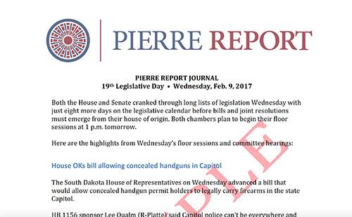 Pierre Report Journal